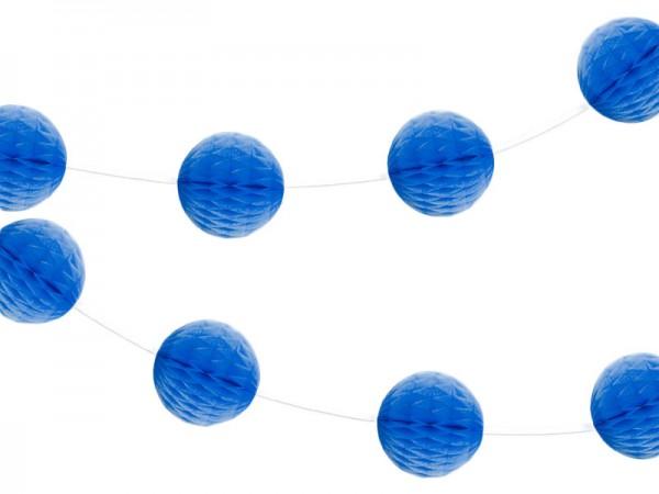 Wabenball Girlande blau