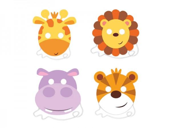 Masken Dschungeltiere Partymasken Safari