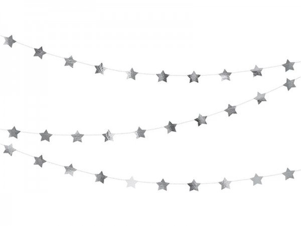 Sterngirlande silber Girlande mit Sternen