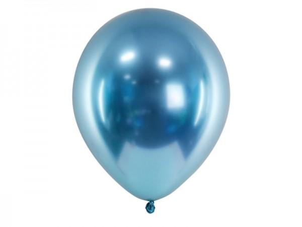 Luftballons blau metallic glossy Ballons
