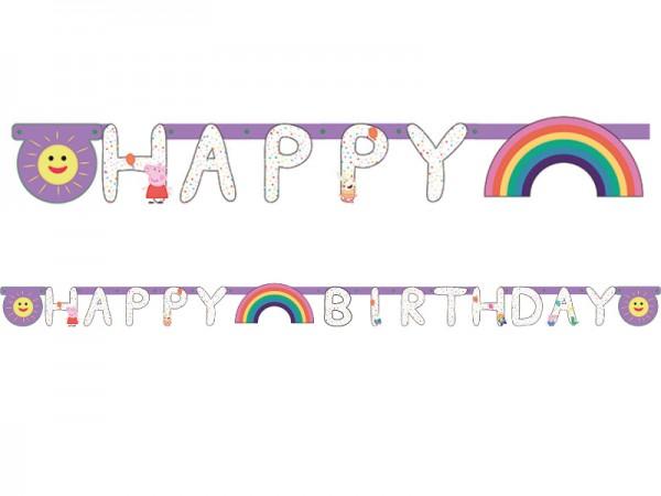 Buchstabenkette Peppa Wutz Happy Birthday Girlande