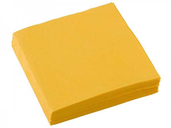 Servietten gelb