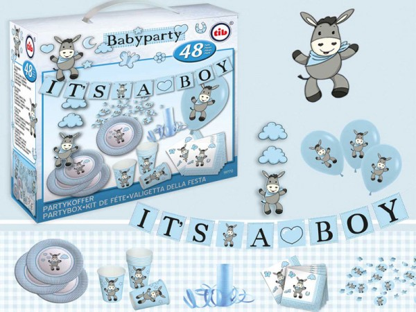 Babyparty Set Junge Baby Shower Dekoset Boy